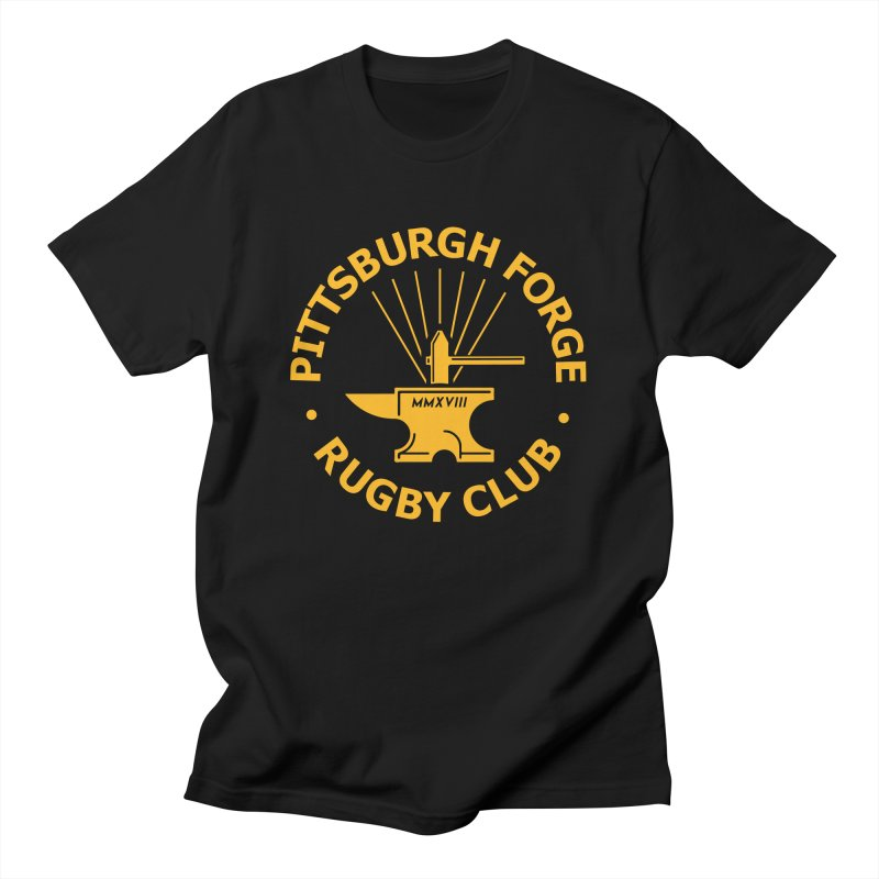 Forge Anvil - Gold Logo Men's T-Shirt by Forge Foundry