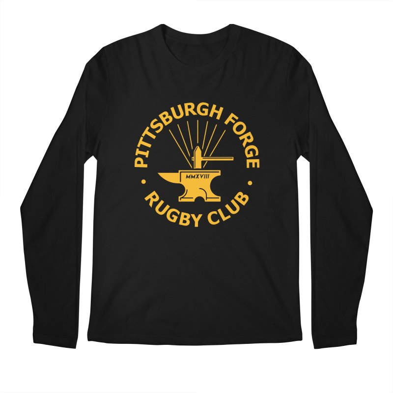 Forge Anvil - Gold Logo Men's Longsleeve T-Shirt by Forge Foundry