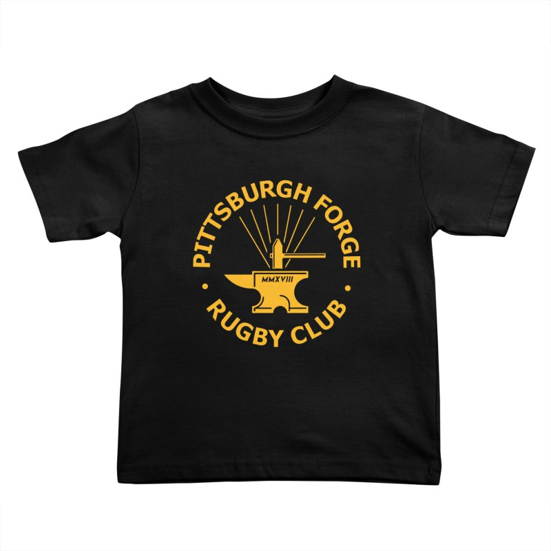 Forge Anvil - Gold Logo Kids Toddler T-Shirt by Forge Foundry