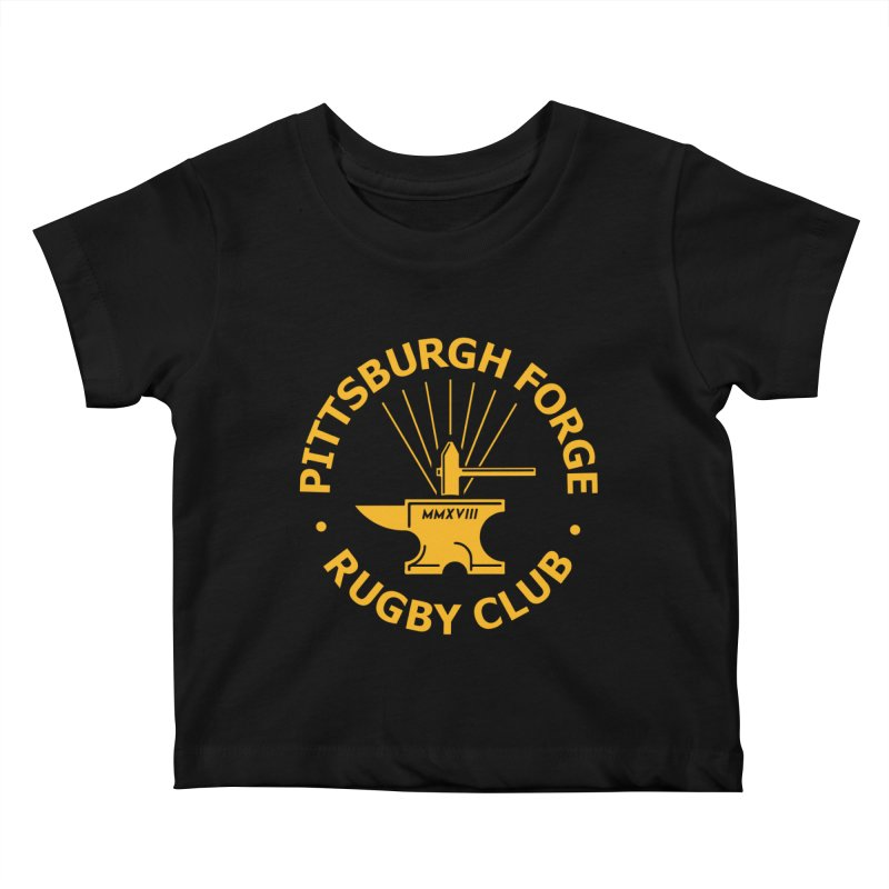 Forge Anvil - Gold Logo Kids Baby T-Shirt by Forge Foundry