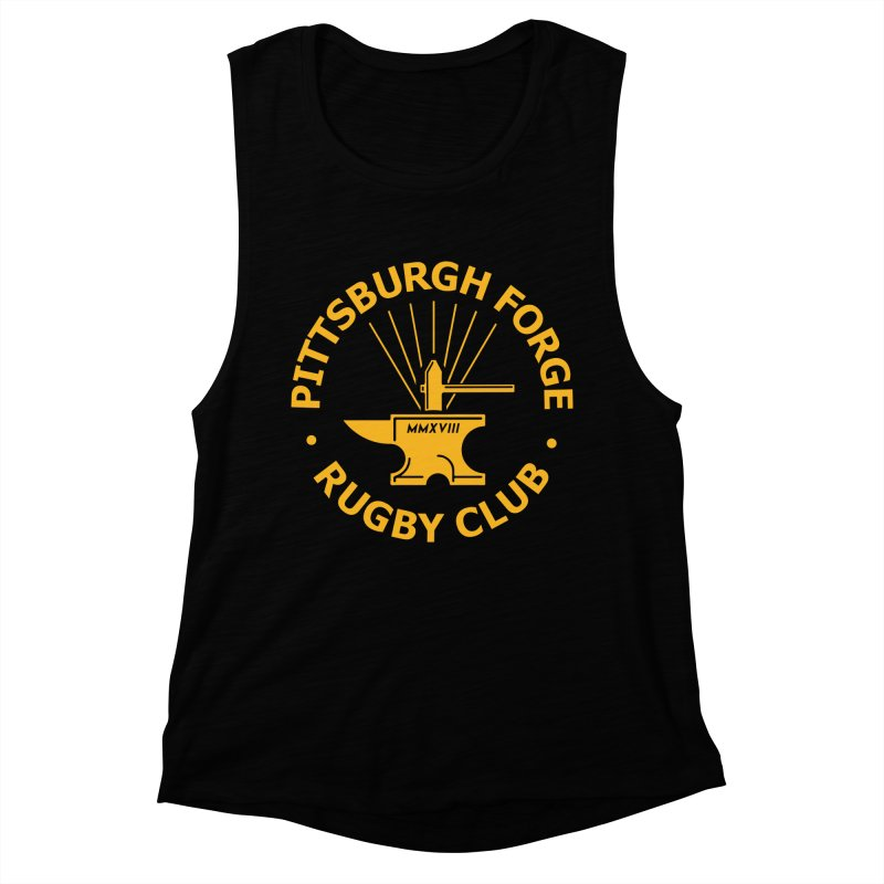 Forge Anvil - Gold Logo Women's Tank by Forge Foundry