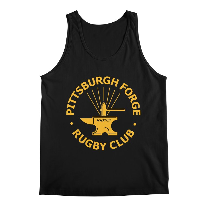 Forge Anvil - Gold Logo Men's Tank by Forge Foundry