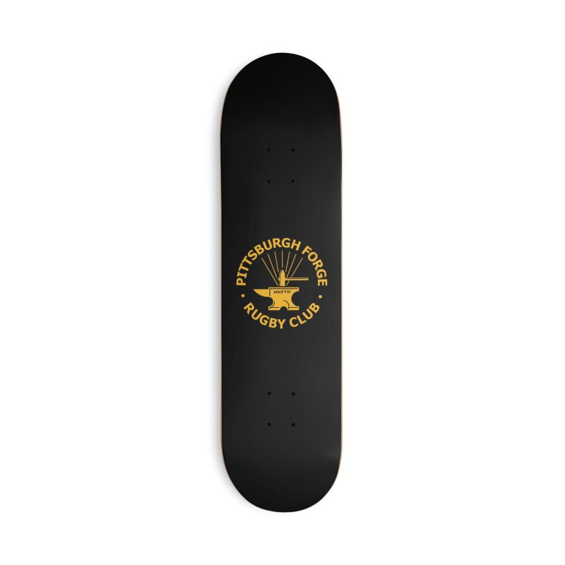 Forge Anvil - Gold Logo Accessories Skateboard by Forge Foundry