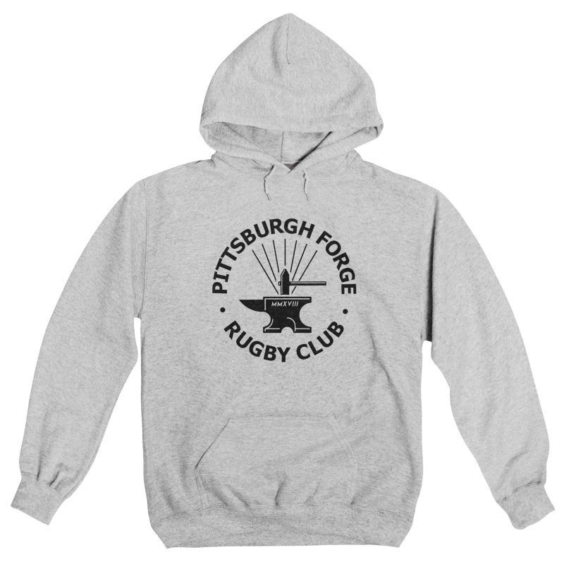 Forge Anvil - Black Logo Men's Pullover Hoody by Forge Foundry