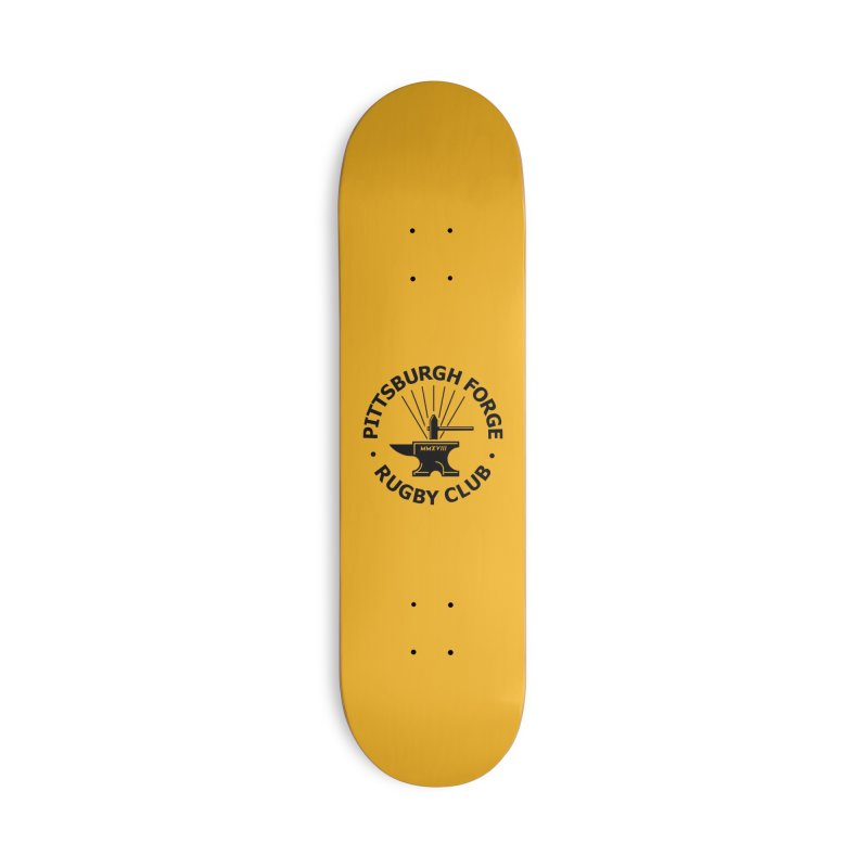 Forge Anvil - Black Logo Accessories Skateboard by Forge Foundry
