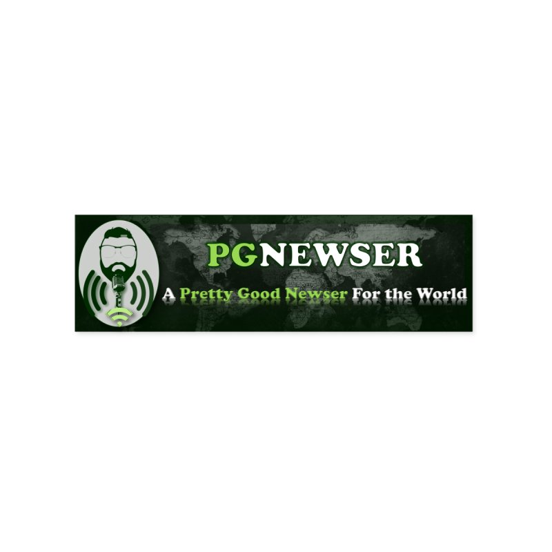 PG Newser Label Accessories Sticker by PGMercher  - A Pretty Good Merch Shop