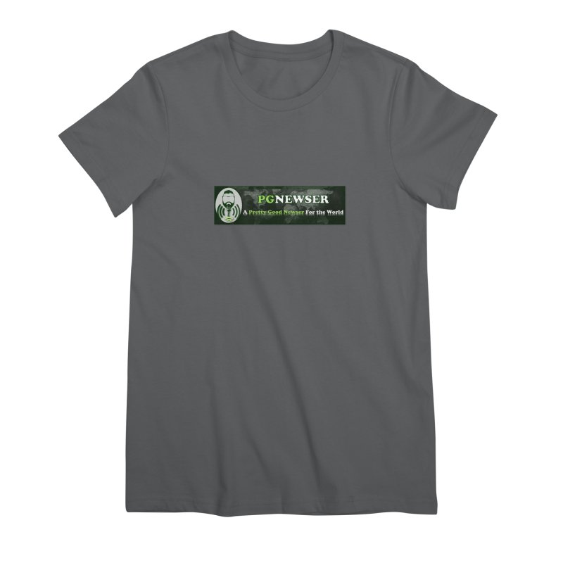 PG Newser Label Women's Premium T-Shirt by PGMercher  - A Pretty Good Merch Shop
