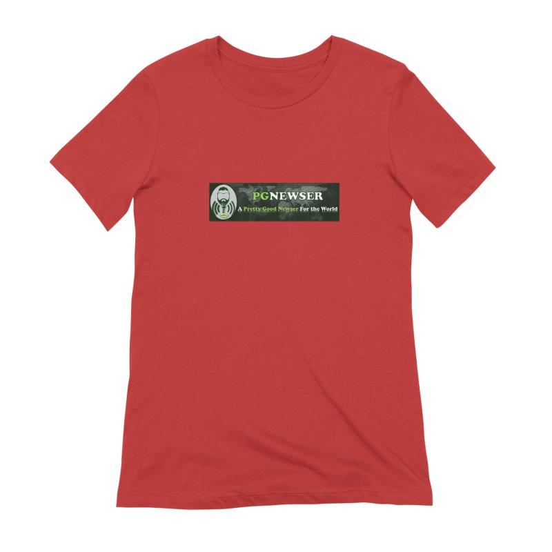 PG Newser Label Women's Extra Soft T-Shirt by PGMercher  - A Pretty Good Merch Shop