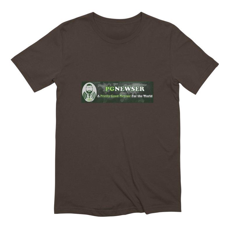 PG Newser Label Men's Extra Soft T-Shirt by PGMercher  - A Pretty Good Merch Shop