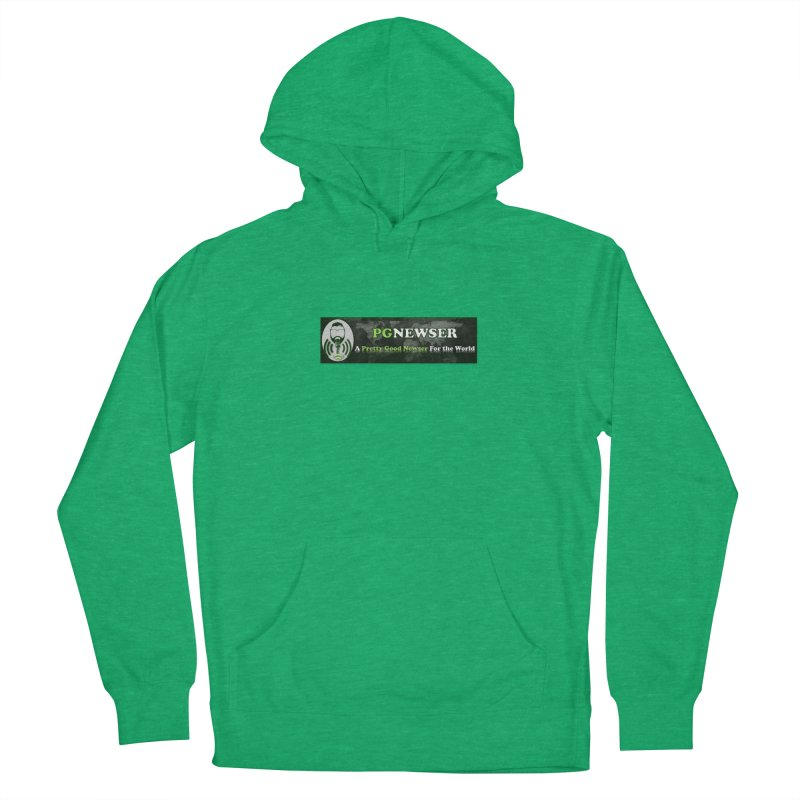PG Newser Label Men's French Terry Pullover Hoody by PGMercher  - A Pretty Good Merch Shop