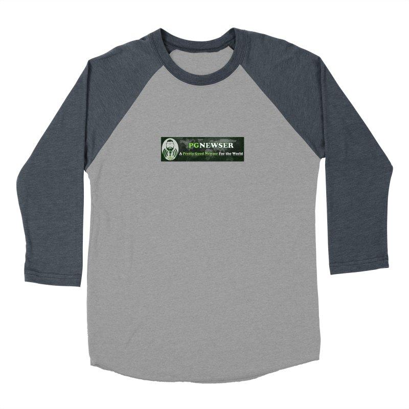 PG Newser Label Men's Baseball Triblend Longsleeve T-Shirt by PGMercher  - A Pretty Good Merch Shop