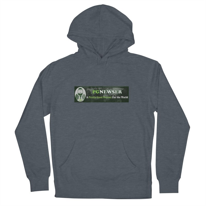 PG Newser Label Women's French Terry Pullover Hoody by PGMercher  - A Pretty Good Merch Shop