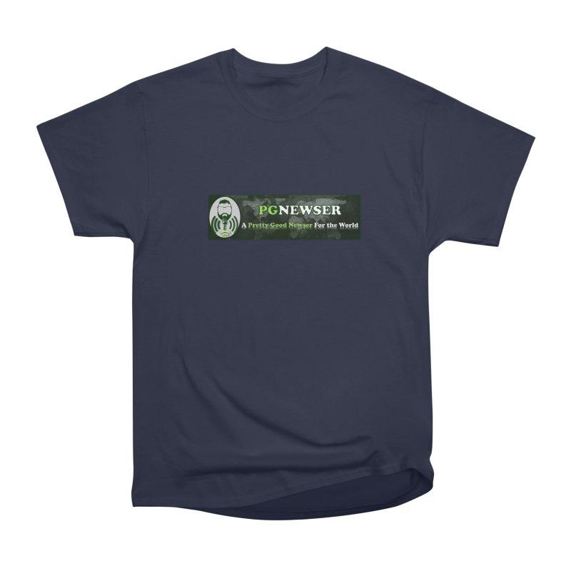 PG Newser Label Men's Heavyweight T-Shirt by PGMercher  - A Pretty Good Merch Shop