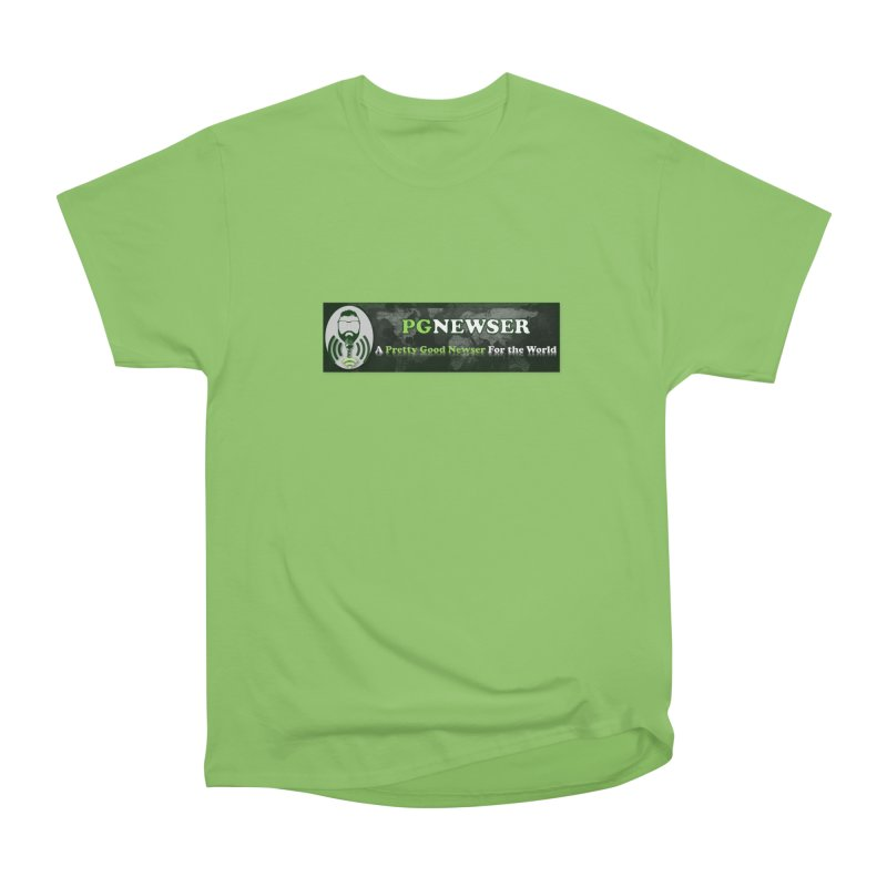 PG Newser Label Women's Heavyweight Unisex T-Shirt by PGMercher  - A Pretty Good Merch Shop