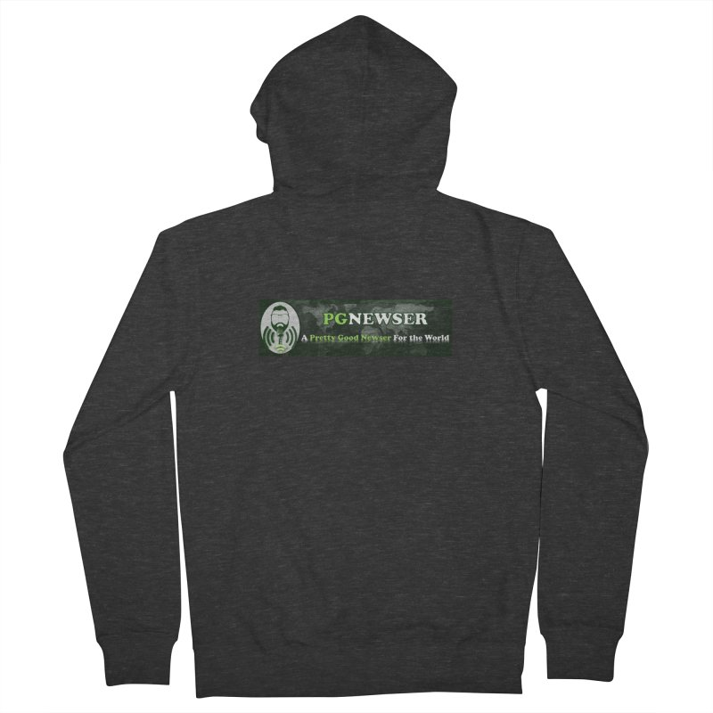 PG Newser Label Men's French Terry Zip-Up Hoody by PGMercher  - A Pretty Good Merch Shop