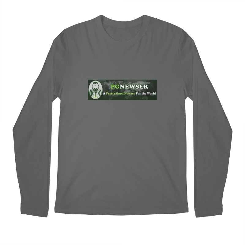 PG Newser Label Men's Longsleeve T-Shirt by PGMercher  - A Pretty Good Merch Shop