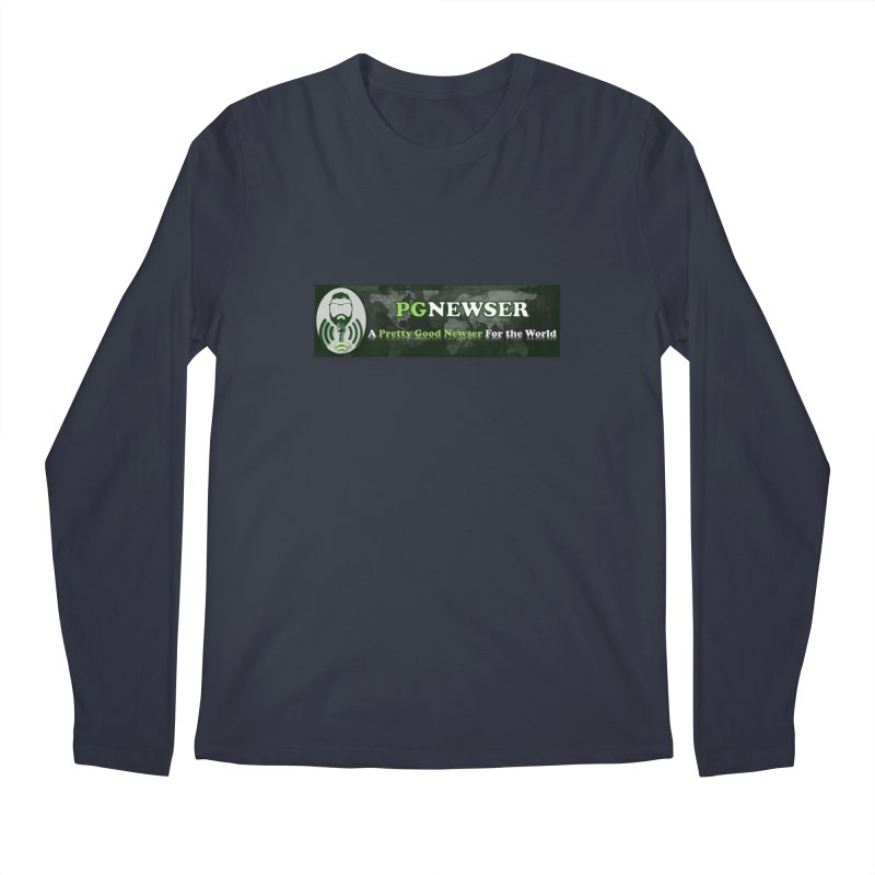 PG Newser Label Men's Regular Longsleeve T-Shirt by PGMercher  - A Pretty Good Merch Shop