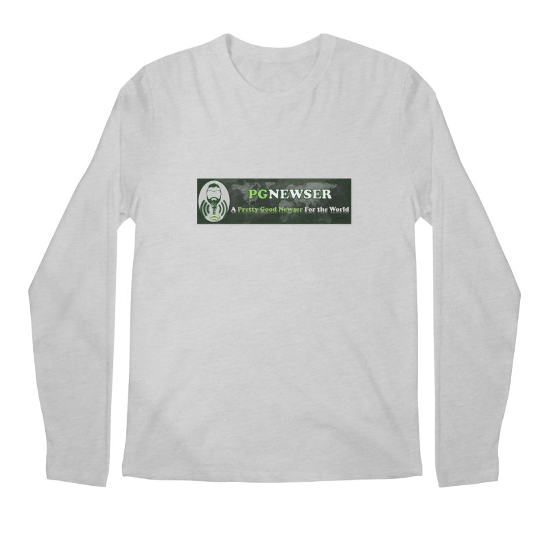 PG Newser Label Men's Longsleeve T-Shirt by PGMercher  - A Pretty Good Merch Shop