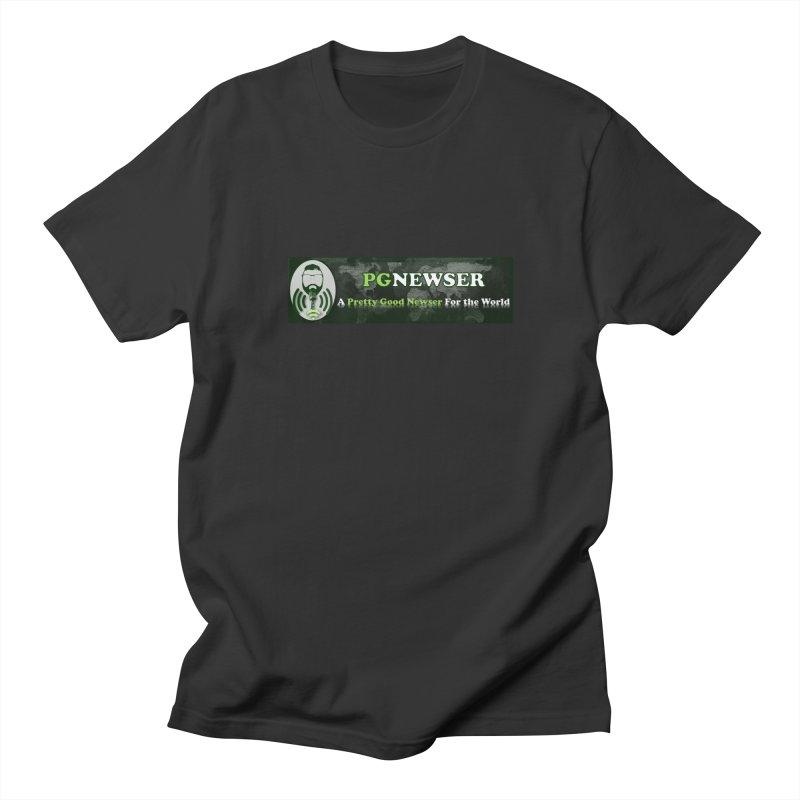 PG Newser Label Men's Regular T-Shirt by PGMercher  - A Pretty Good Merch Shop