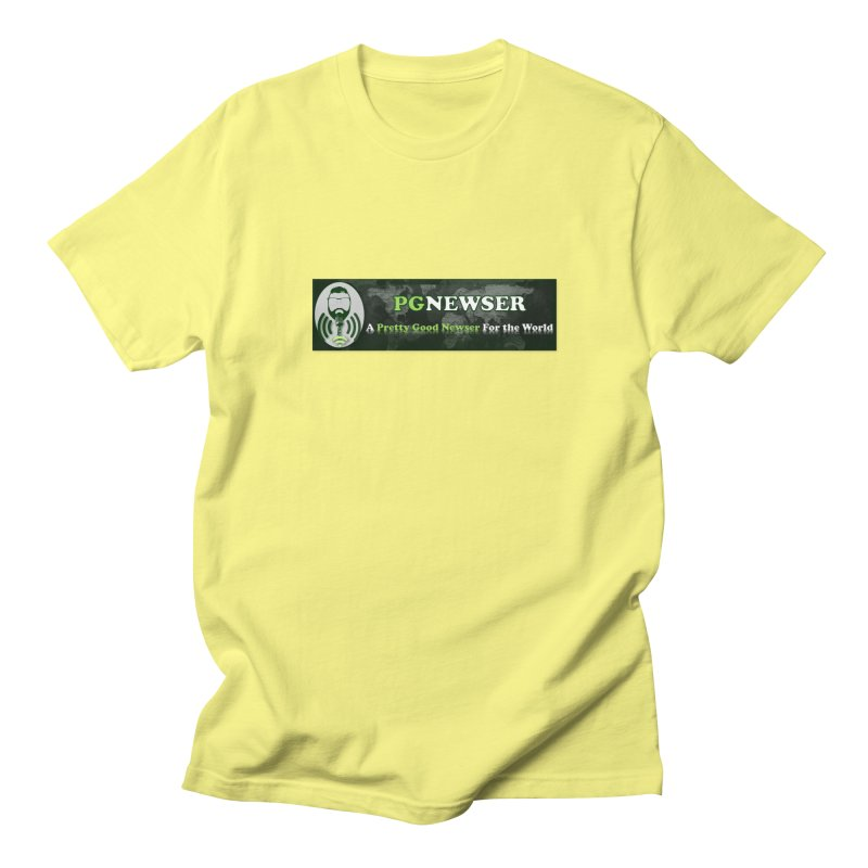 PG Newser Label Men's T-Shirt by PGMercher  - A Pretty Good Merch Shop