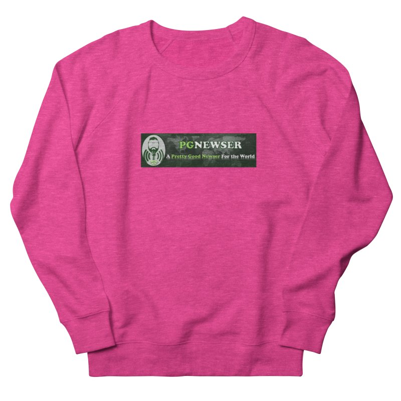 PG Newser Label Women's French Terry Sweatshirt by PGMercher  - A Pretty Good Merch Shop