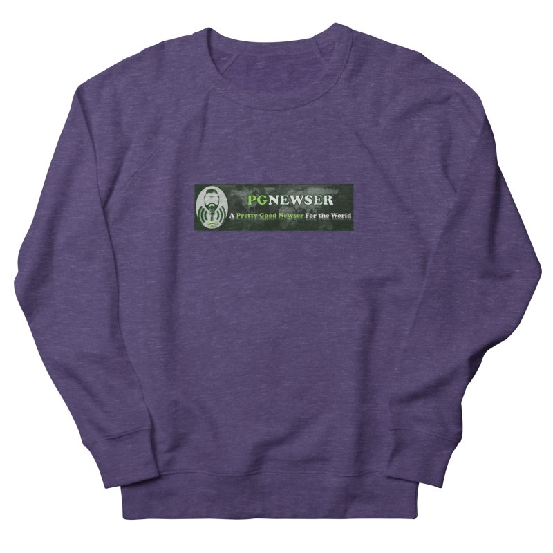 PG Newser Label Men's French Terry Sweatshirt by PGMercher  - A Pretty Good Merch Shop