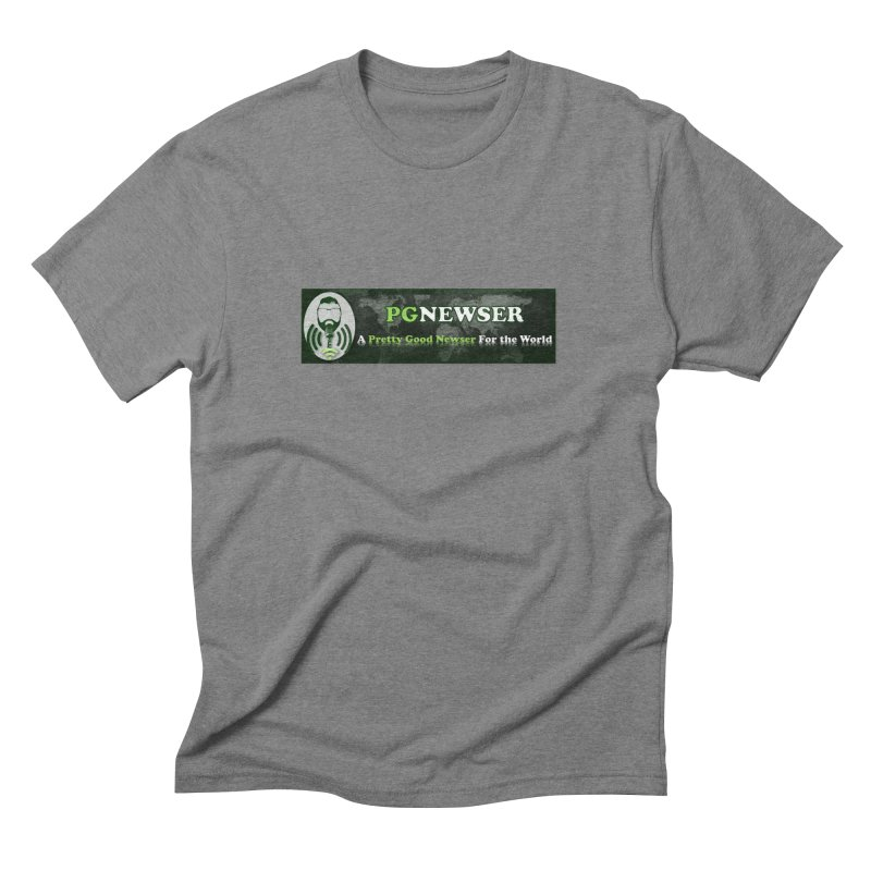 PG Newser Label Men's Triblend T-Shirt by PGMercher  - A Pretty Good Merch Shop