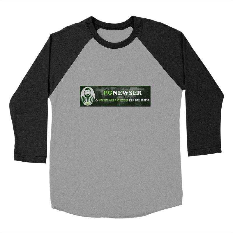 PG Newser Label Women's Baseball Triblend Longsleeve T-Shirt by PGMercher  - A Pretty Good Merch Shop