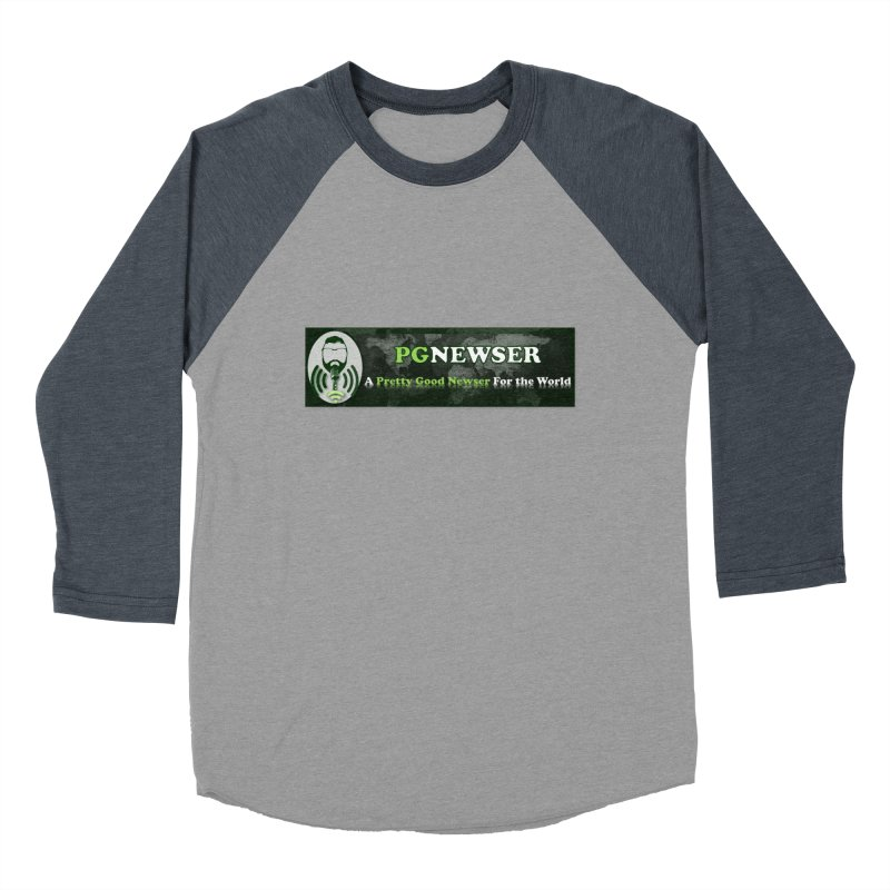 PG Newser Label Women's Baseball Triblend Longsleeve T-Shirt by PGMercher  - A Pretty Good Merch Shop