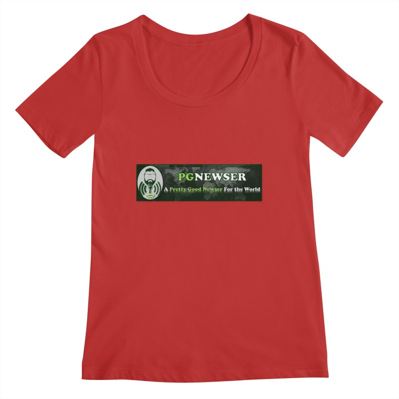 PG Newser Label Women's Regular Scoop Neck by PGMercher  - A Pretty Good Merch Shop