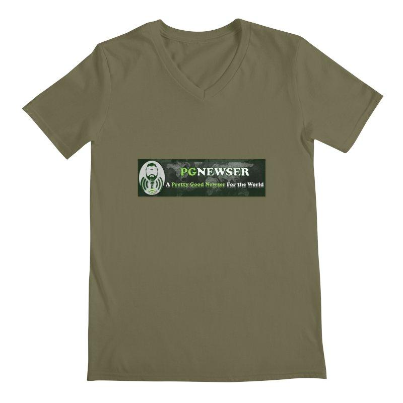 PG Newser Label Men's V-Neck by PGMercher  - A Pretty Good Merch Shop