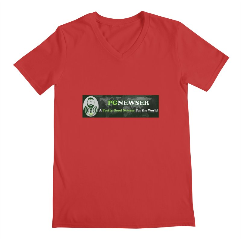 PG Newser Label Men's Regular V-Neck by PGMercher  - A Pretty Good Merch Shop