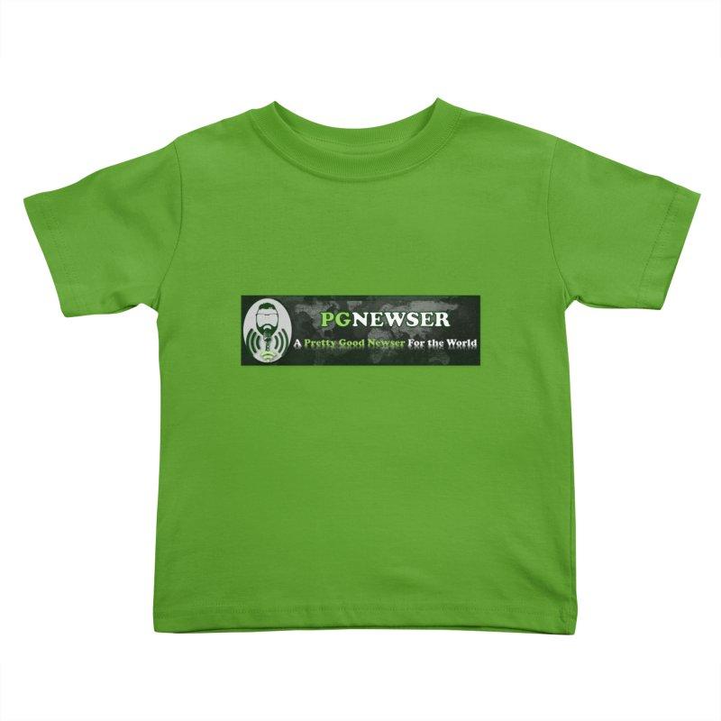 PG Newser Label Kids Toddler T-Shirt by PGMercher  - A Pretty Good Merch Shop