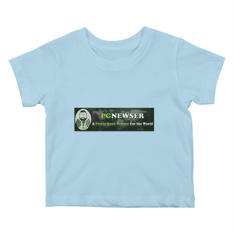 PG Newser Label Kids Baby T-Shirt by PGMercher  - A Pretty Good Merch Shop