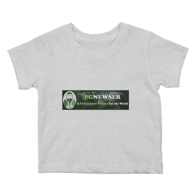 PG Newser Label Kids Baby T-Shirt by PGMercher  - A Pretty Good Merch Shop