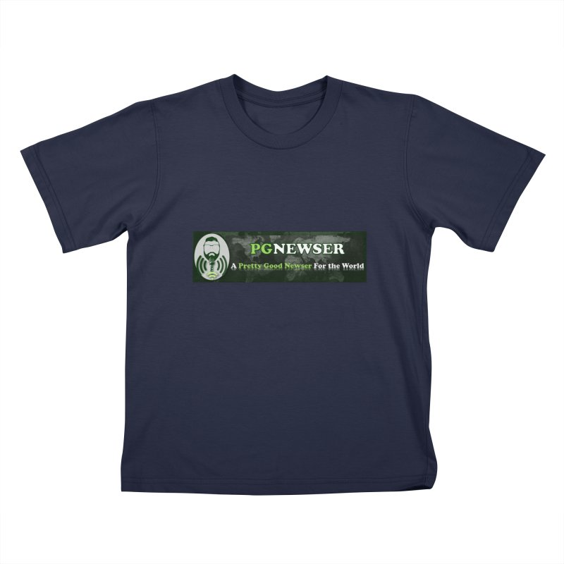 PG Newser Label Kids T-Shirt by PGMercher  - A Pretty Good Merch Shop