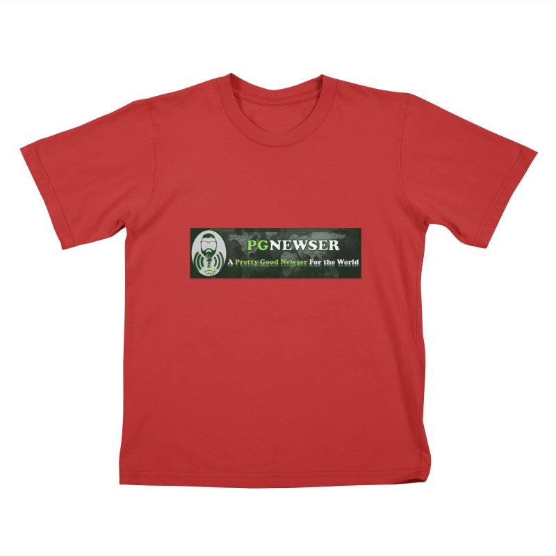 PG Newser Label Kids T-Shirt by PGMercher  - A Pretty Good Merch Shop