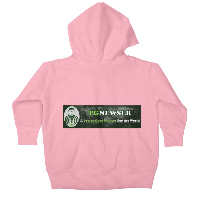 PG Newser Label Kids Baby Zip-Up Hoody by PGMercher  - A Pretty Good Merch Shop
