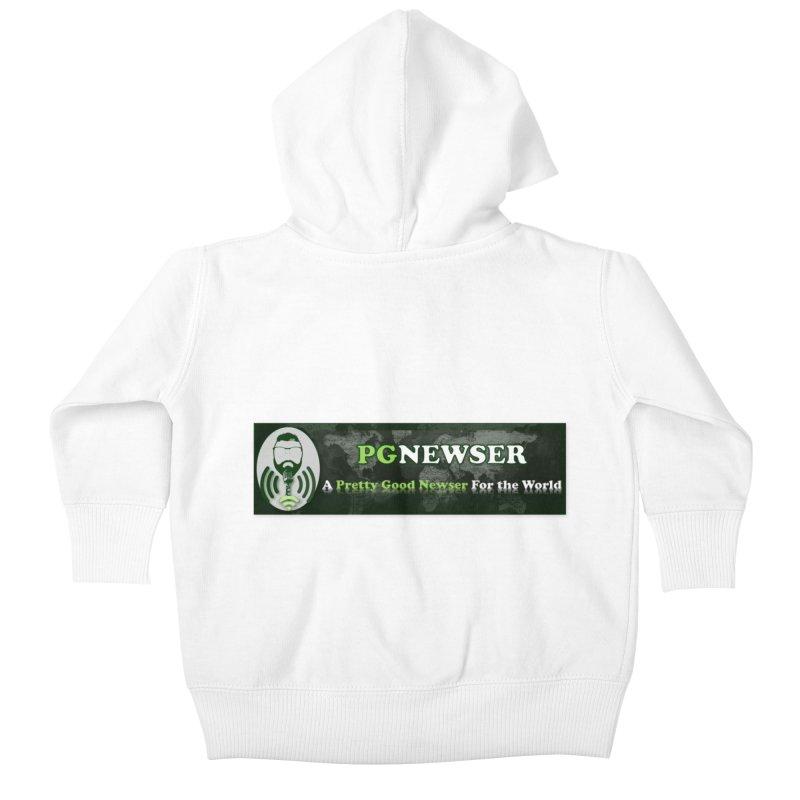 PG Newser Label Kids Baby Zip-Up Hoody by PGMercher  - A Pretty Good Merch Shop