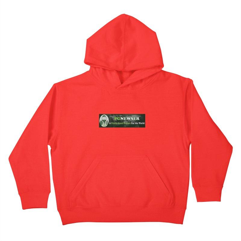 PG Newser Label Kids Pullover Hoody by PGMercher  - A Pretty Good Merch Shop
