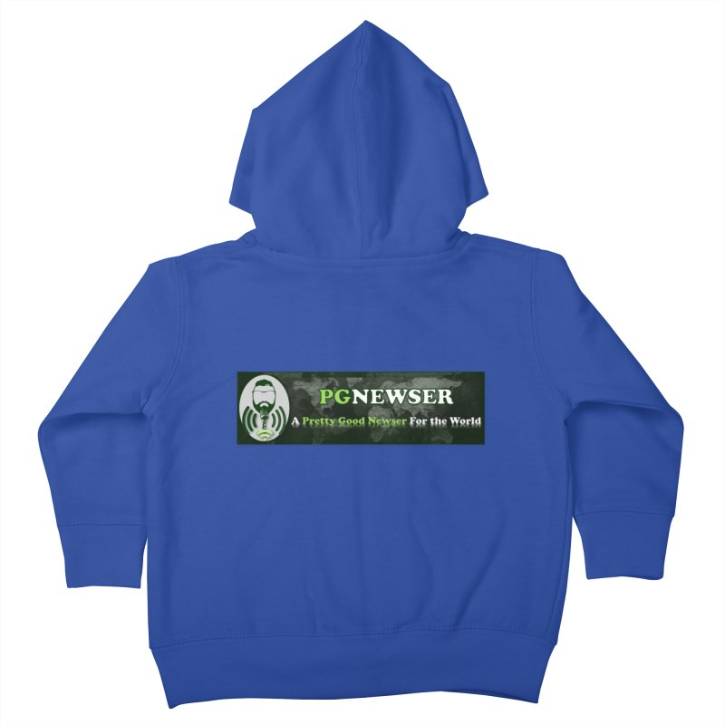 PG Newser Label Kids Toddler Zip-Up Hoody by PGMercher  - A Pretty Good Merch Shop