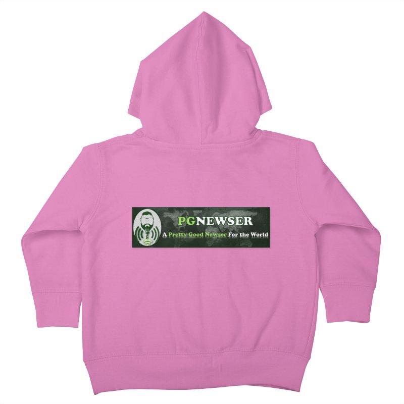 PG Newser Label Kids Toddler Zip-Up Hoody by PGMercher  - A Pretty Good Merch Shop