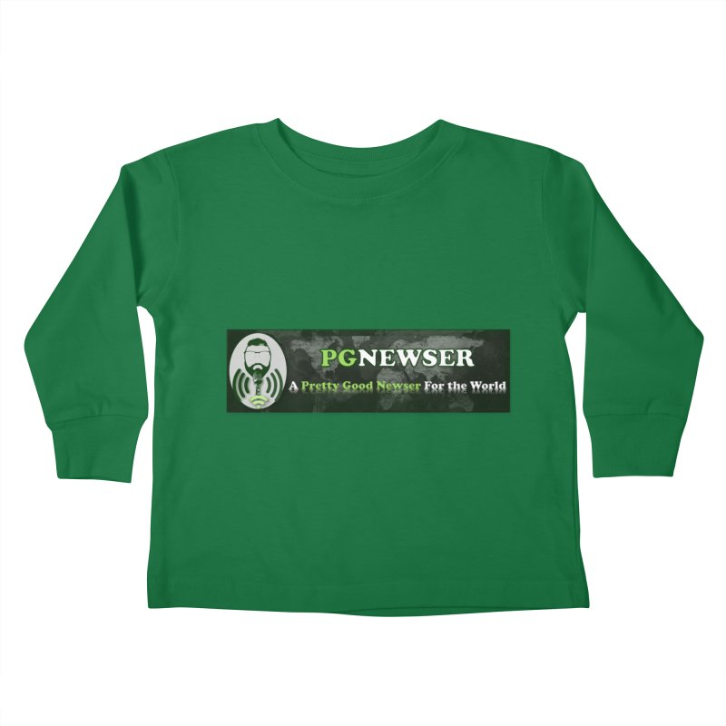 PG Newser Label Kids Toddler Longsleeve T-Shirt by PGMercher  - A Pretty Good Merch Shop