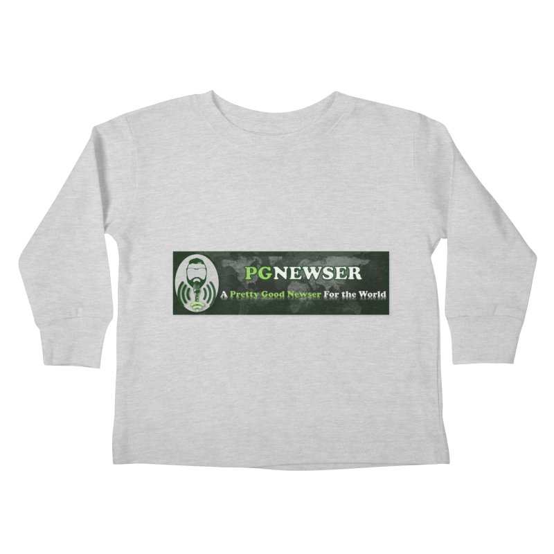PG Newser Label Kids Toddler Longsleeve T-Shirt by PGMercher  - A Pretty Good Merch Shop