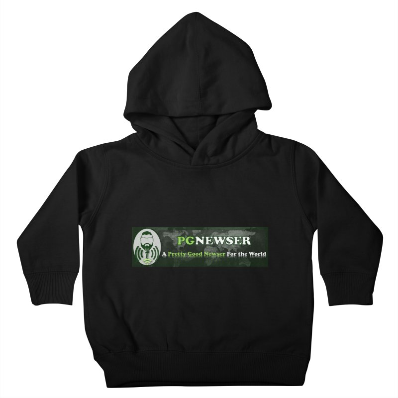 PG Newser Label Kids Toddler Pullover Hoody by PGMercher  - A Pretty Good Merch Shop