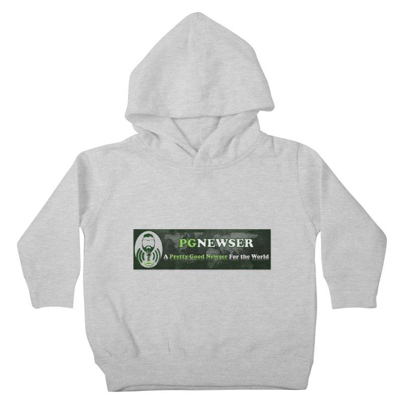 PG Newser Label Kids Toddler Pullover Hoody by PGMercher  - A Pretty Good Merch Shop