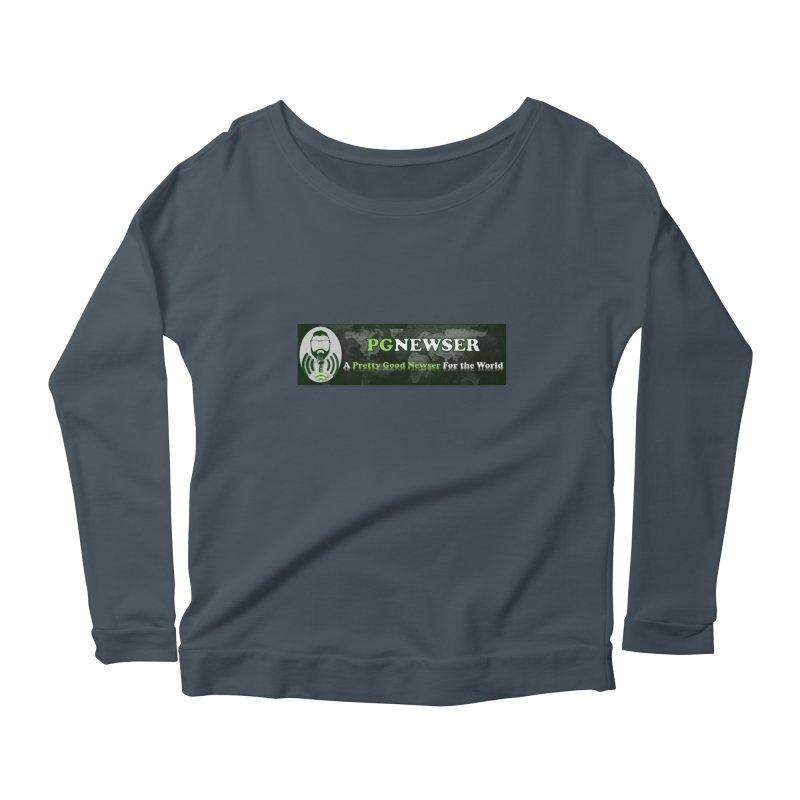 PG Newser Label Women's Scoop Neck Longsleeve T-Shirt by PGMercher  - A Pretty Good Merch Shop