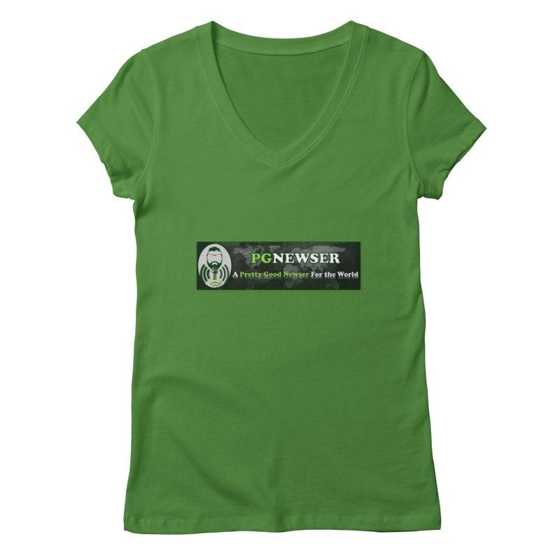 PG Newser Label Women's Regular V-Neck by PGMercher  - A Pretty Good Merch Shop