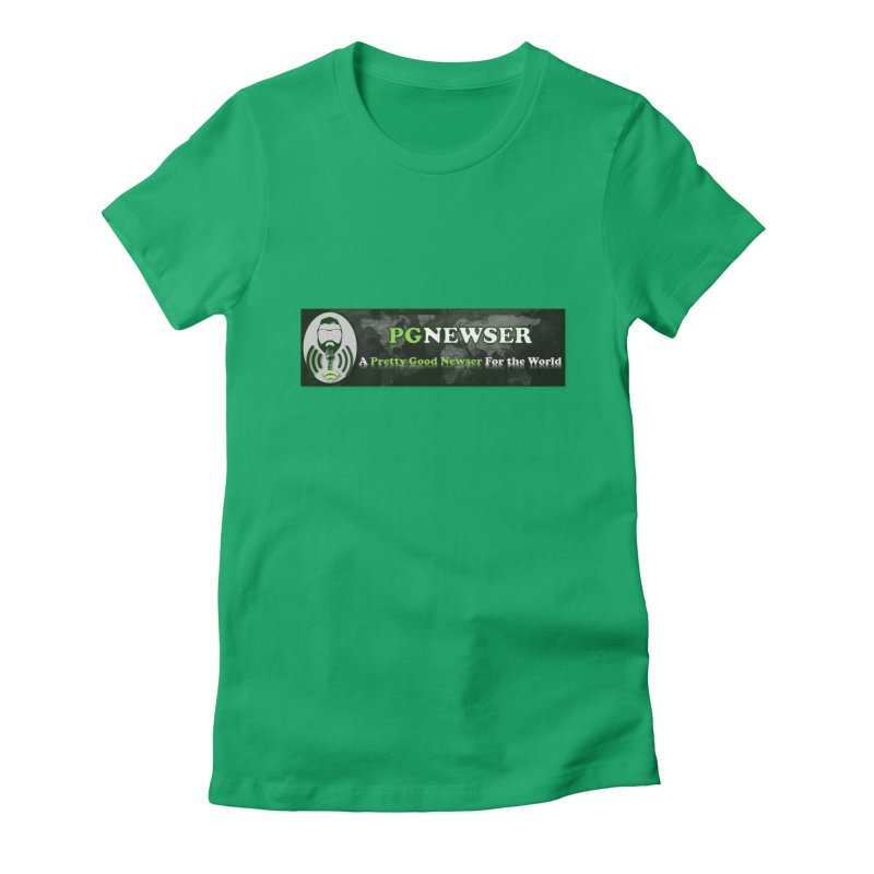 PG Newser Label Women's Fitted T-Shirt by PGMercher  - A Pretty Good Merch Shop