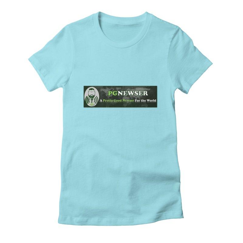 PG Newser Label Women's Fitted T-Shirt by PGMercher  - A Pretty Good Merch Shop